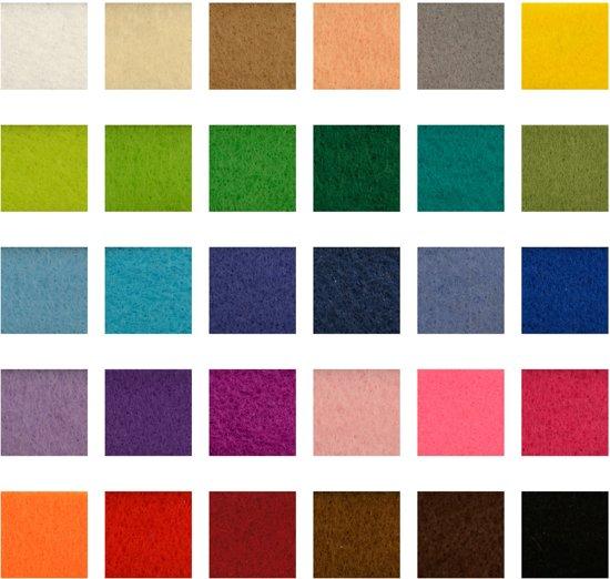 lapjes vilt verschillende kleuren