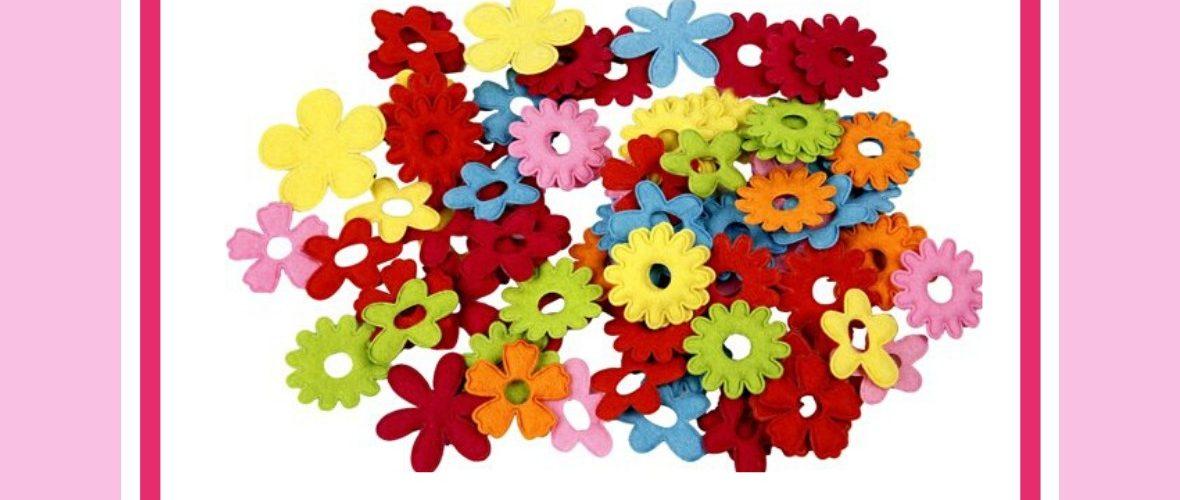 bloemetjes bloemen van vilt