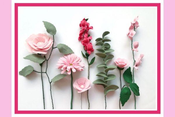 Maak je eigen viltboeket bloemen vilt